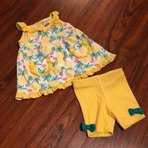 Adorable Lemon Top and Shorts